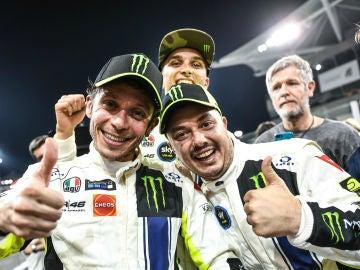 Valentino Rossi celebra un triunfo