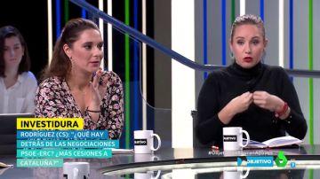 "Melisa Rodríguez, a Noelia Vera: ""¿Cree que el señor Rufián va a garantizar que el tren llegue a Extremadura?"""