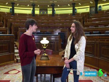 Lucía Muñoz y Marta Roque, de Unidas Podemos y ERC