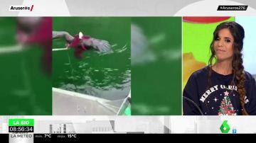 Enfrentamiento en el agua: un pulpo gigante intenta ahogar a un águila que se había abalanzado sobre él