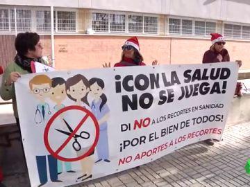 La sanidad pública se echa a las calles para denunciar la temporalidad y la precariedad del sector