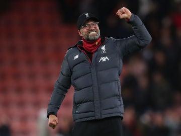 Jürgen Klopp durante el último partido del Liverpool frente al Bournemouth