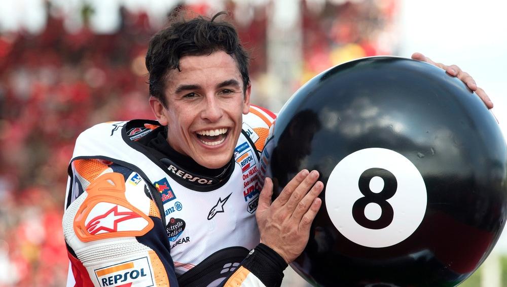 Márquez celebrando su último título mundial
