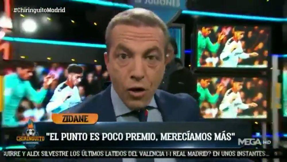 """Así habría evitado Cristóbal Soria el empate del Real Madrid en Mestalla: """"Si estoy yo en el campo..."""""""