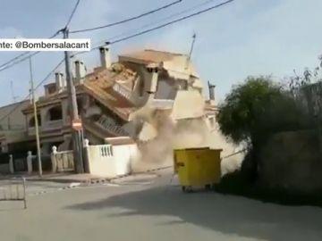 Derrumbe de un chalet en Monóvar