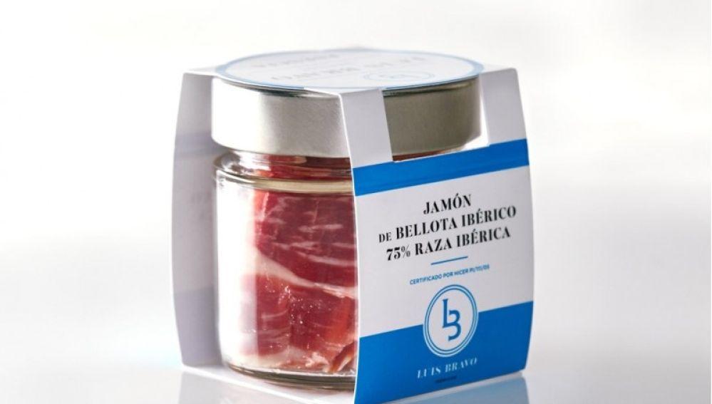 El jamón ibérico ya se vende en tarros de cristal