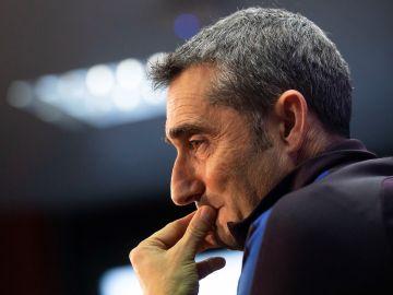 Valverde, en una conferencia de prensa.