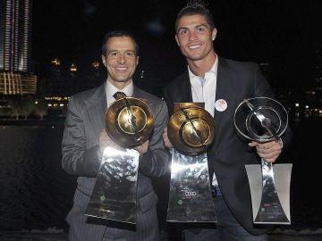 Jorge Mendes, junto a Cristiano Ronaldo