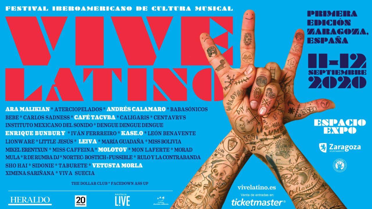 Vive Latino: El festival de música más importante de Latinoamérica aterriza en Zaragoza este 2020