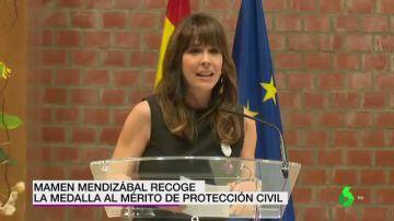 Mamen Mendizábal recoge la Medalla al Mérito de Protección Civil