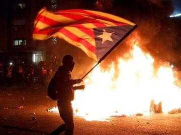 Incidentes en los aledaños del Camp Nou