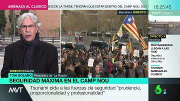 """Toni Bolaño: """"Tsunami Democràtic no está en la órbita de ERC, está en la de JxCat y de la CUP"""""""