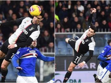 El portentoso salto de Cristiano Ronaldo contra la Sampdoria