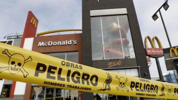 Detalle de un local del McDonald's en Lima