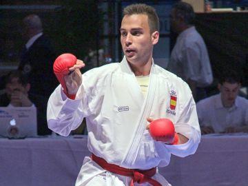 Ricardo Barbero en una competición de Kárate
