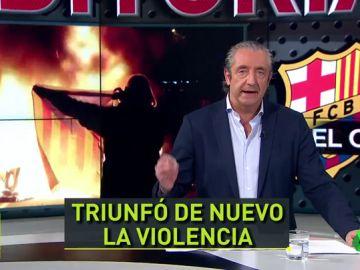 """Josep Pedrerol y los disturbios en el Clásico: """"El único Tsunami fue... el Real Madrid"""""""