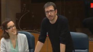 Héctor Tejero Franco en su intervención en la Asamblea de Madrid.