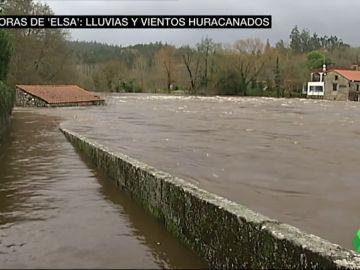 La borrasca Elsa deja vientos huracanados en Galicia y ríos desbordados