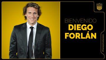 Diego Forlán, nuevo entrenador del Peñarol
