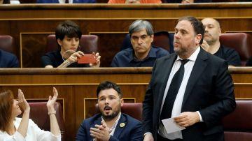 Oriol Junqueras, en el Congreso de los Diputados