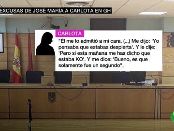 """Gran Hermano reunió a Carlota y José María en una habitación tras el presunto abuso sexual: """"Él me lo admitió a mi cara"""""""