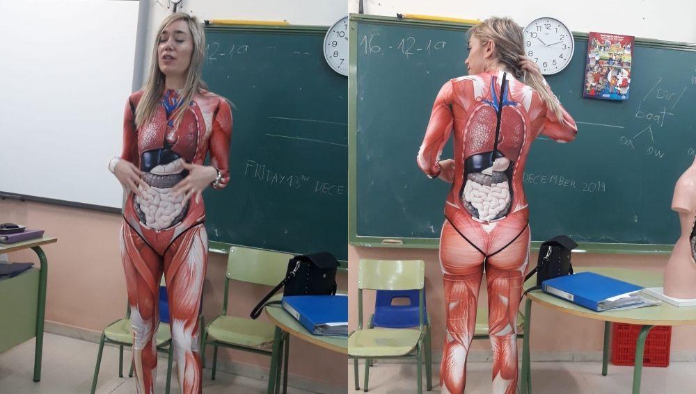 'Miss Duque', la profesora que se ha hecho viral por 'dejarse la piel' en clase