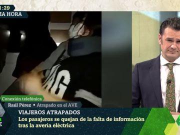"""El imitador Raúl Pérez, atrapado en el AVE por un fallo eléctrico: """"Vuelvo a casa por Navidad, pero la del año que viene"""""""