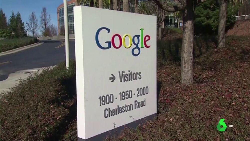Imagen de la fachada del edificio de Google.