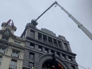 Muere la mujer golpeada por la caída de una cornisa en Madrid por el temporal