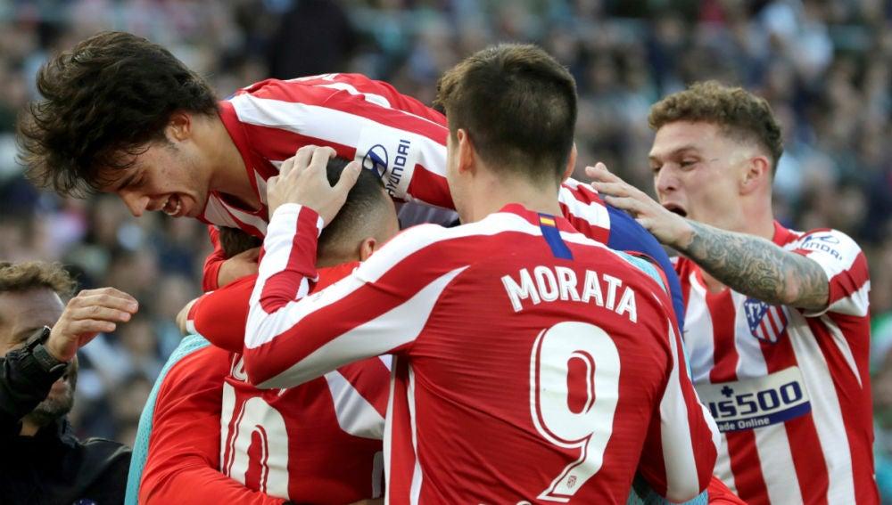 El Atlético celebra un gol