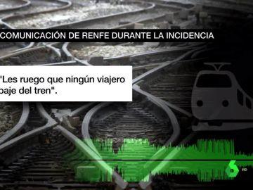 Comunicación de RENFE durante la avería de un tren AVE
