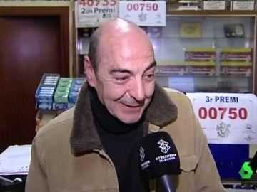El lotero que vendió el tercer premio de la Lotería de Navidad