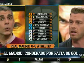 """Tenso cara a cara entre José Luis Sánchez y Jota Jordi por los arbitrajes: """"Eso es de equipo pequeño"""""""