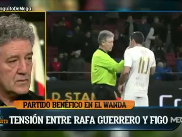 """Feo gesto de Luis Figo con Rafa Guerrero en un partido benéfico: """"Le tuve que pedir perdón, no lo entendía"""""""