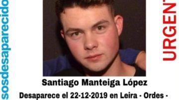 Santiago Manteiga López, de 19 años, desaparecido en Leira, A Coruña.