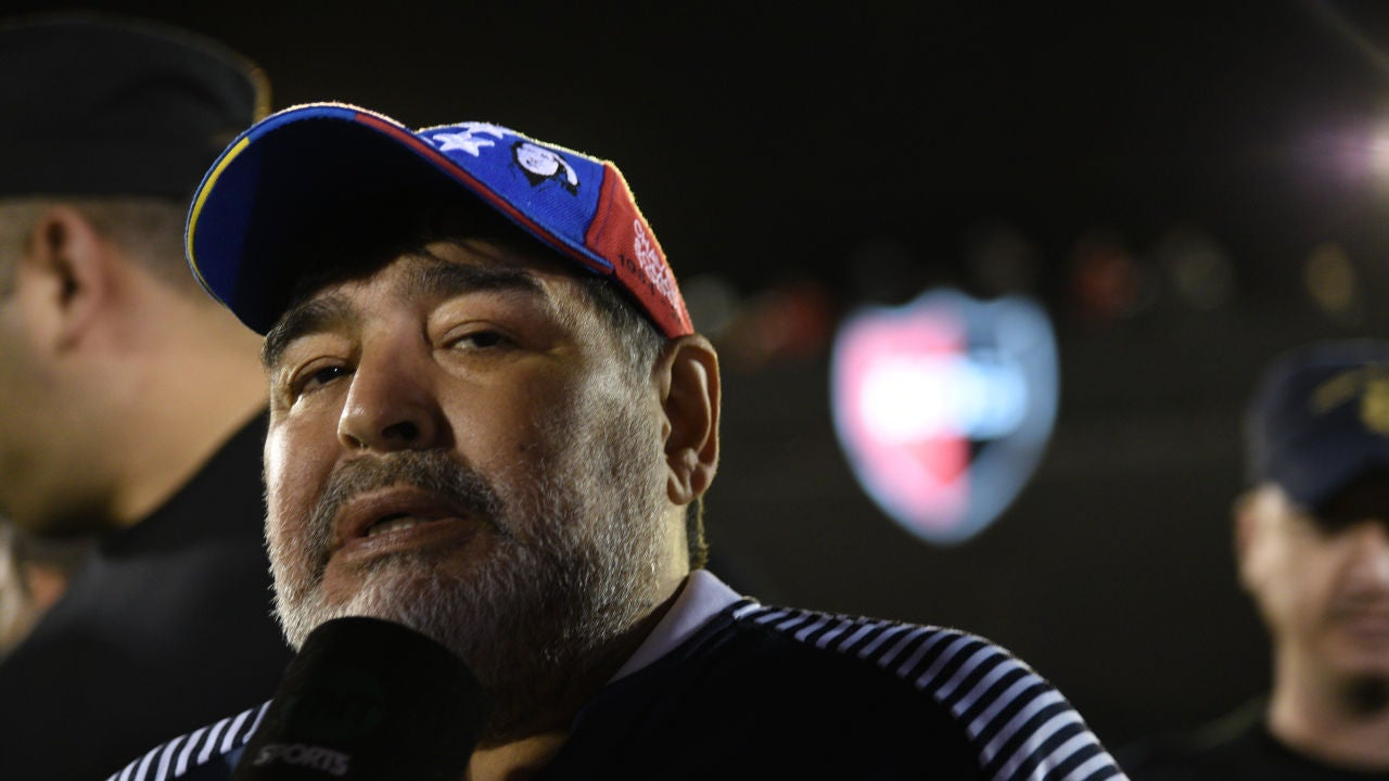 Maradona, durante un partido