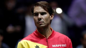 Rafa Nadal, durante la Copa Davis