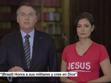 Bolsonaro reaparece en un discurso navideño horas después de perder la memoria por un golpe en la cabeza