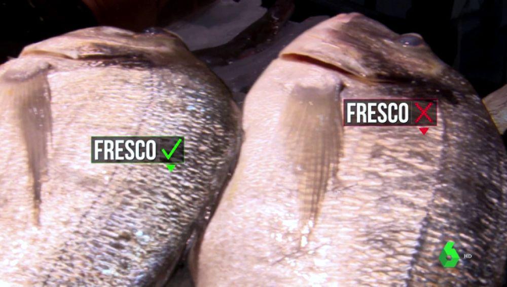 Pescado fresco y pescado que no lo es