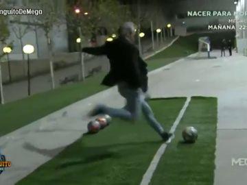 ¿Lo conseguirá? Lobo Carrasco trata de emular el golazo olímpico de Toni Kroos en 'El Chiringuito'