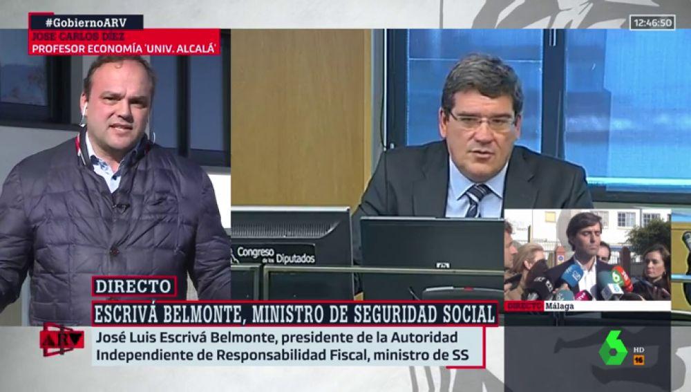 """José Carlos Díez, sobre el nuevo ministro de Seguridad Social: """"Escrivá está muy próximo al Partido Popular"""""""
