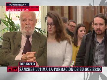 """Martín Pallín, sobre el nuevo Gobierno: """"De apocalipsis nada; cuando llegó Carmena íbamos a estar a oscuras y al contrario"""""""