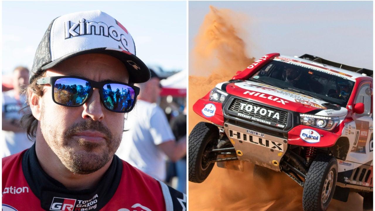 Fernando Alonso y su Toyota