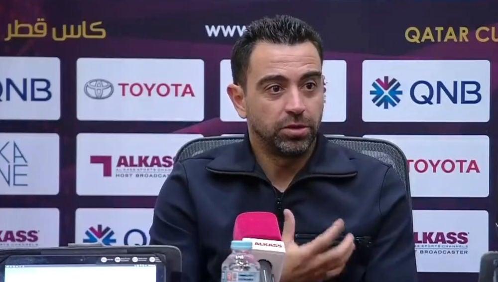 Xavi, en rueda de prensa