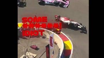 Kimi Raikkonen, arrollado por un Red Bull