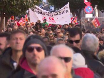 Manifestación en el municipio turolense de Andorra