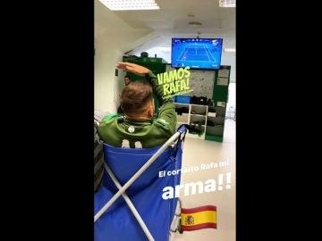 Joaquín disfruta del Nadal - Djokovic