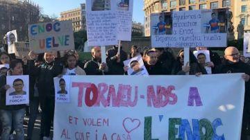 Manifestación para exigir la búsqueda de Enoc Misael Pérez Chinchilla