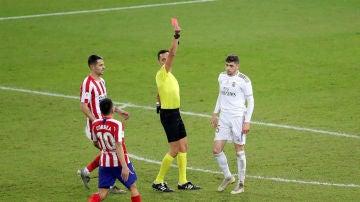 Tarjeta roja a Valverde en la Supercopa de España