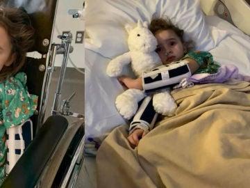 Imagen de Jade DeLucia en el hospital.